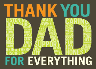 Thank you Dad Fathers Day wish cards