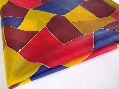 ajándék ötletek: kézzel festett selyemsál