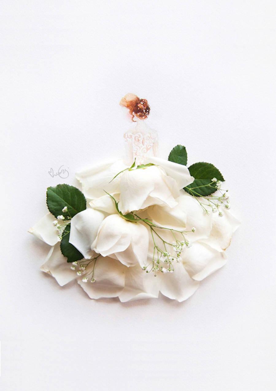 Resultado de imagem para artista faz desenhos com flores