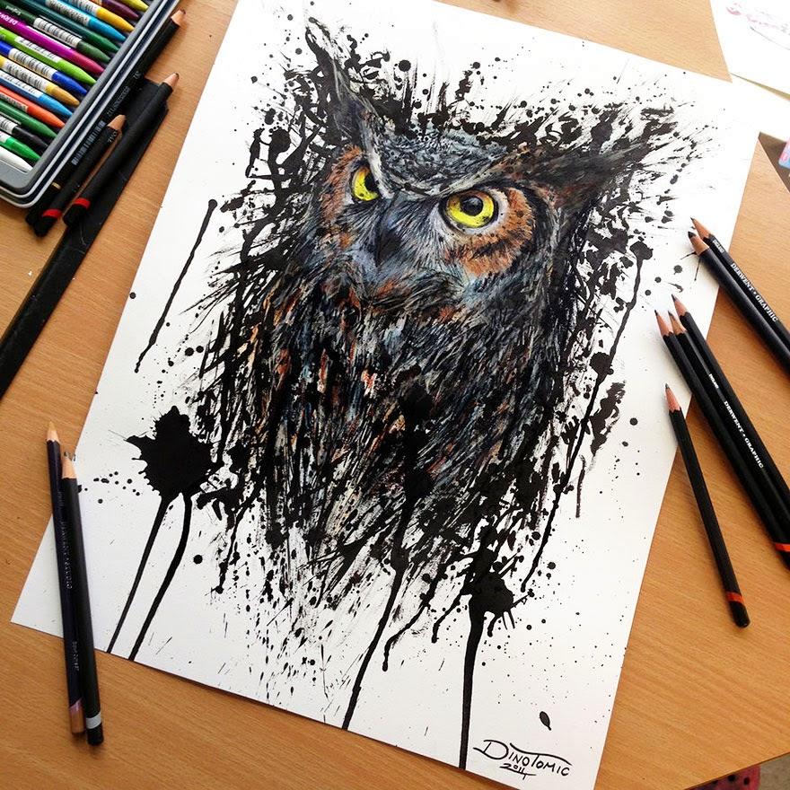dibujos con crayones de madera