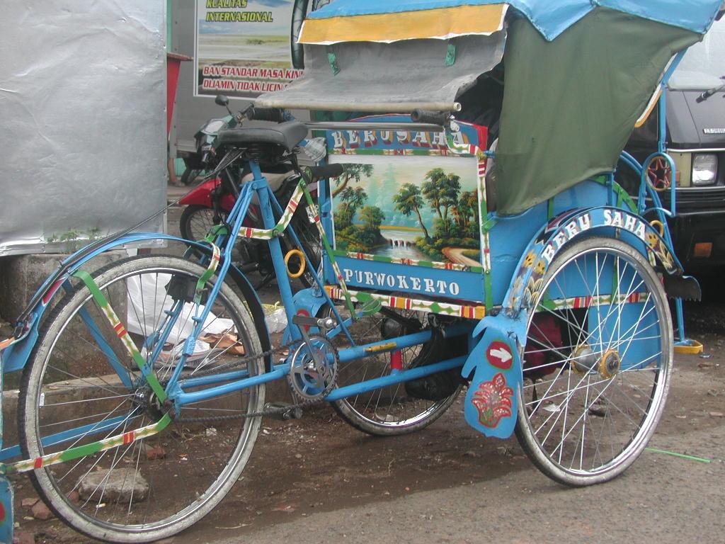 Gambar Transportasi : Becak