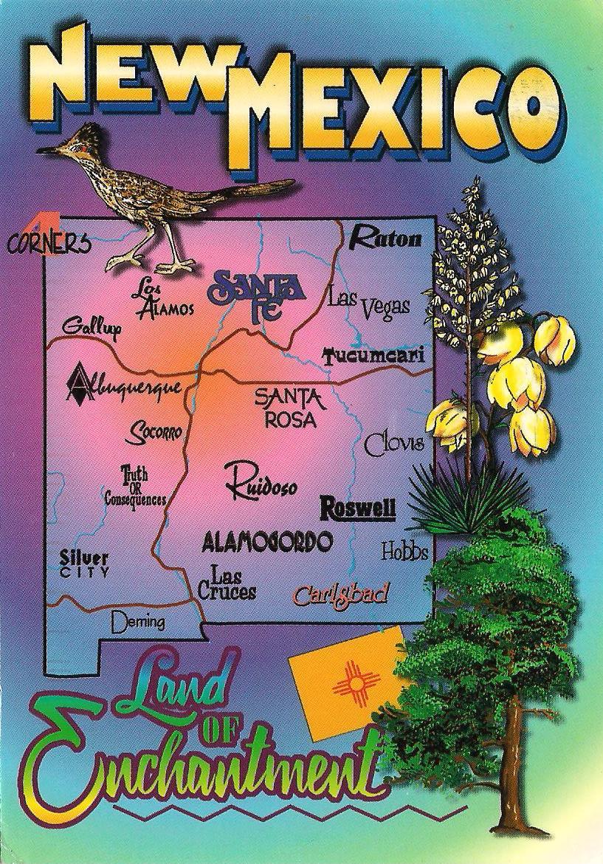 usa map new mexico
