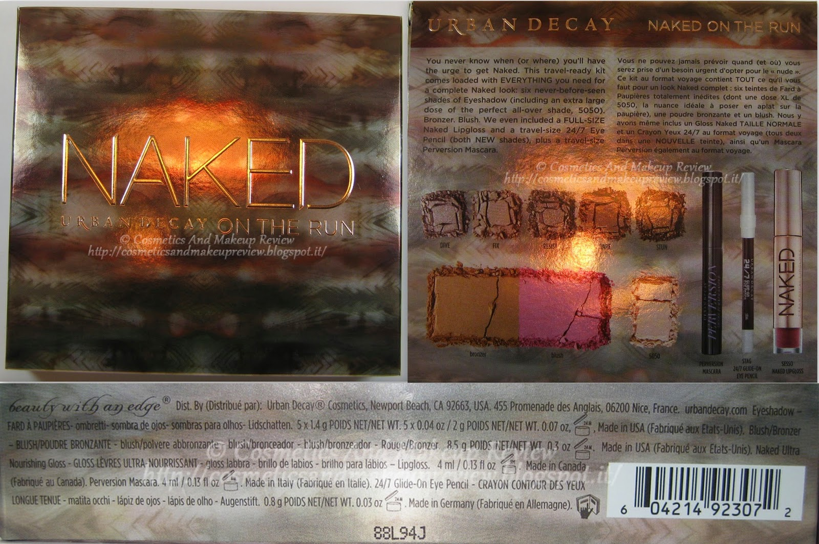 Urban Decay - Naked On The Run Palette - packaging