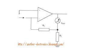 Basic Electronics circuit diagram - schematics constant current amplifier
