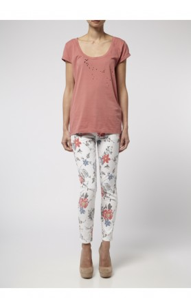 Current/Elliott vintage flower skinny jeans