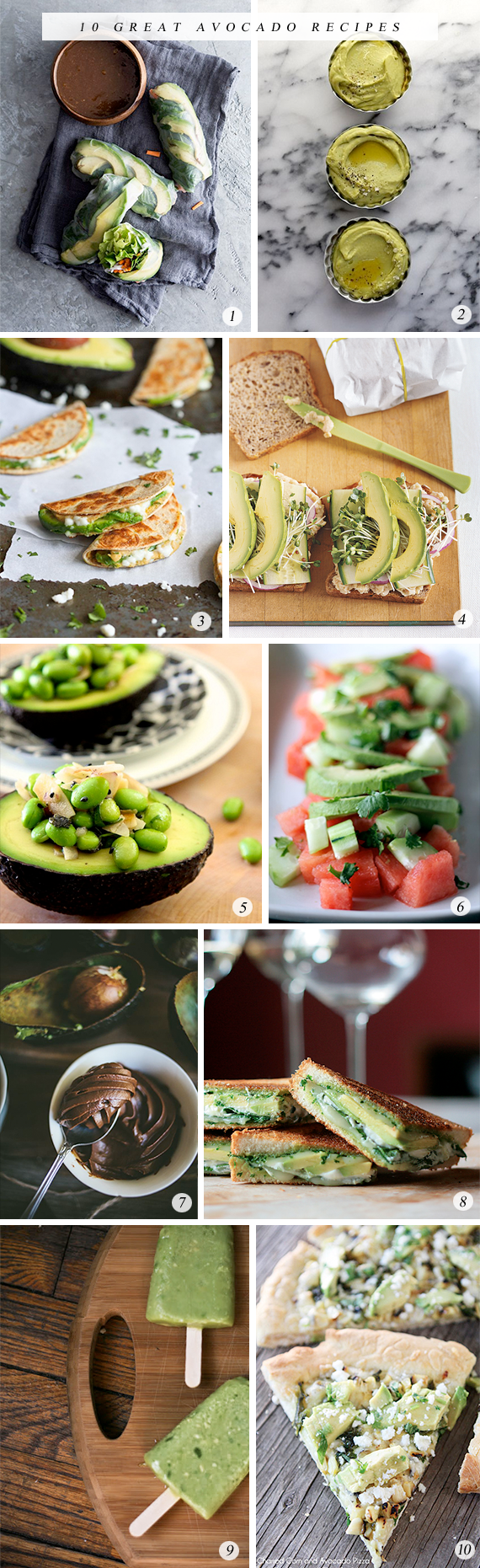 10 Great Avocado Recipes // Bubby and Bean