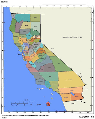 Map of California Cities 4