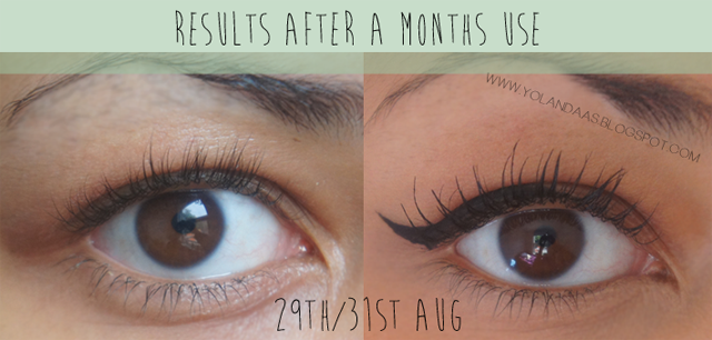 Realash Eyelash Enhancer Serum Before and after long lashes