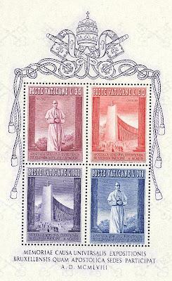 Poste Vaticane Expo Bruxelles 1958