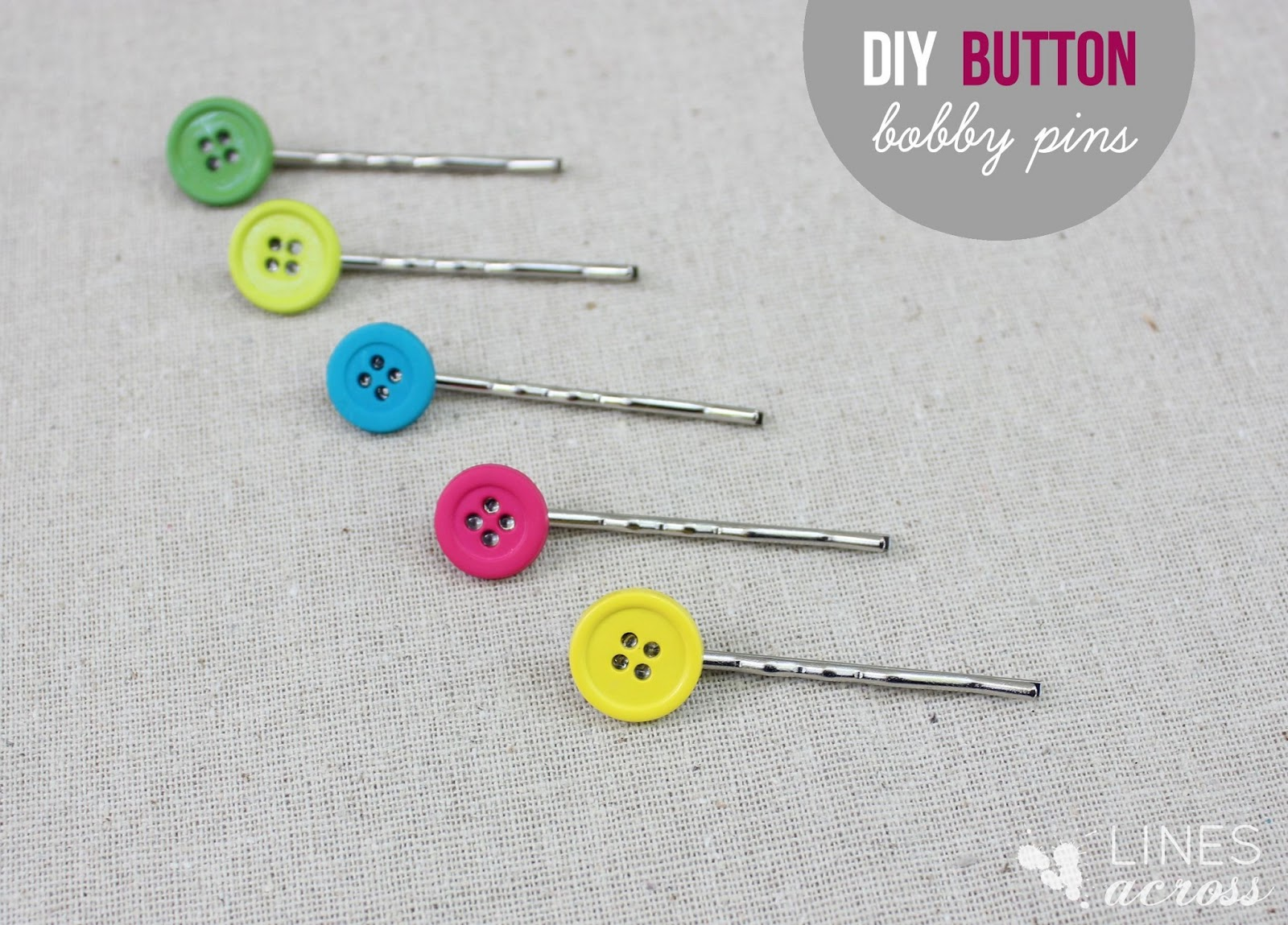 4 Simple Button Crafts - Lines Across