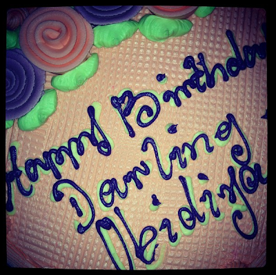 chioma akpotha birthday cake