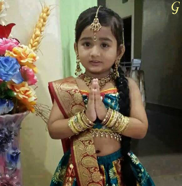 Baby Saree Images Indian Traditional Kids Pics