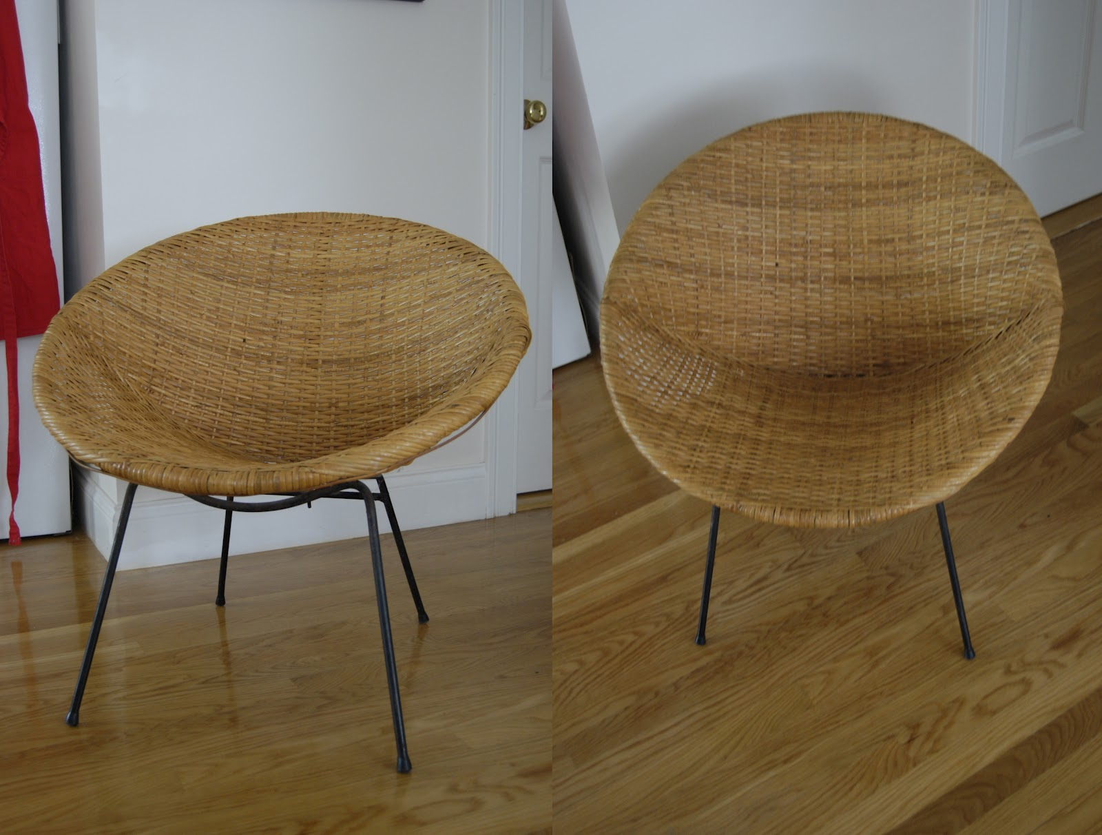 pieces of anna bargain hunting 1960 39 s round wicker chair