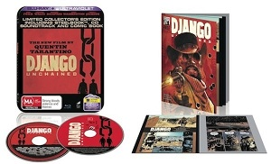 Django Unchained DVD &amp; Blu-ray, Django Unchained Comic, Django Unchained soundtrack