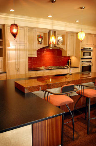 delorme designs seeing red red countertops. Black Bedroom Furniture Sets. Home Design Ideas