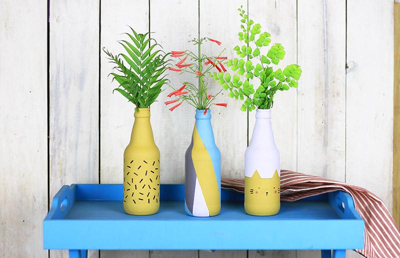 Reaproveitamento: tutorial para pintar garrafa de vidro! - dcoracao.com - blog de decoração e ...