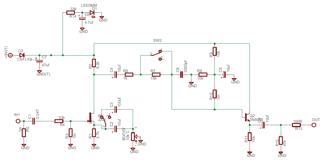 Xotic EP Booster – Diy Clean Boost Pedal Wiring-diagram