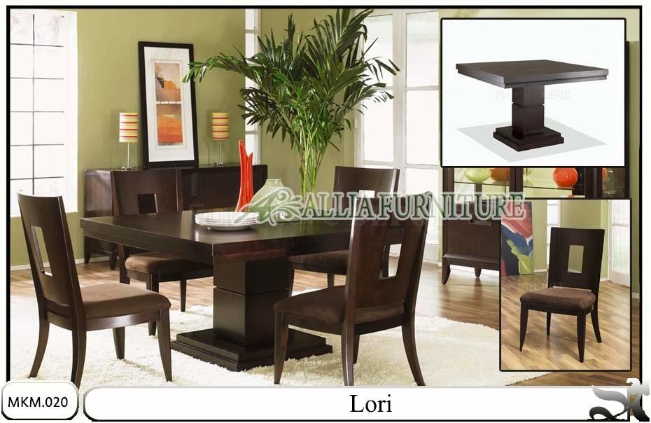 Set meja makan dan kursi minimalis Lori