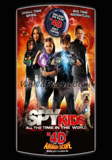Poster Of Spy Kids 4: All the Time in the World (2011) Full Movie Hindi Dubbed Free Download Watch Online At worldfree4u.com