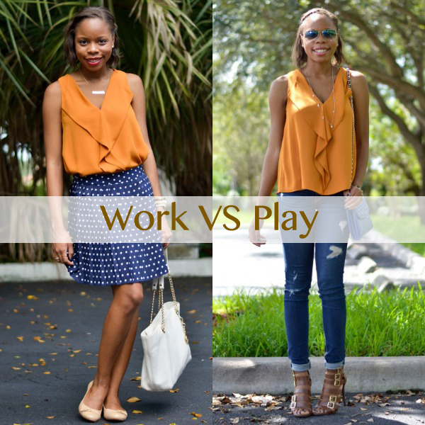 Work Vs. Play: Zara Ruffled Blouse