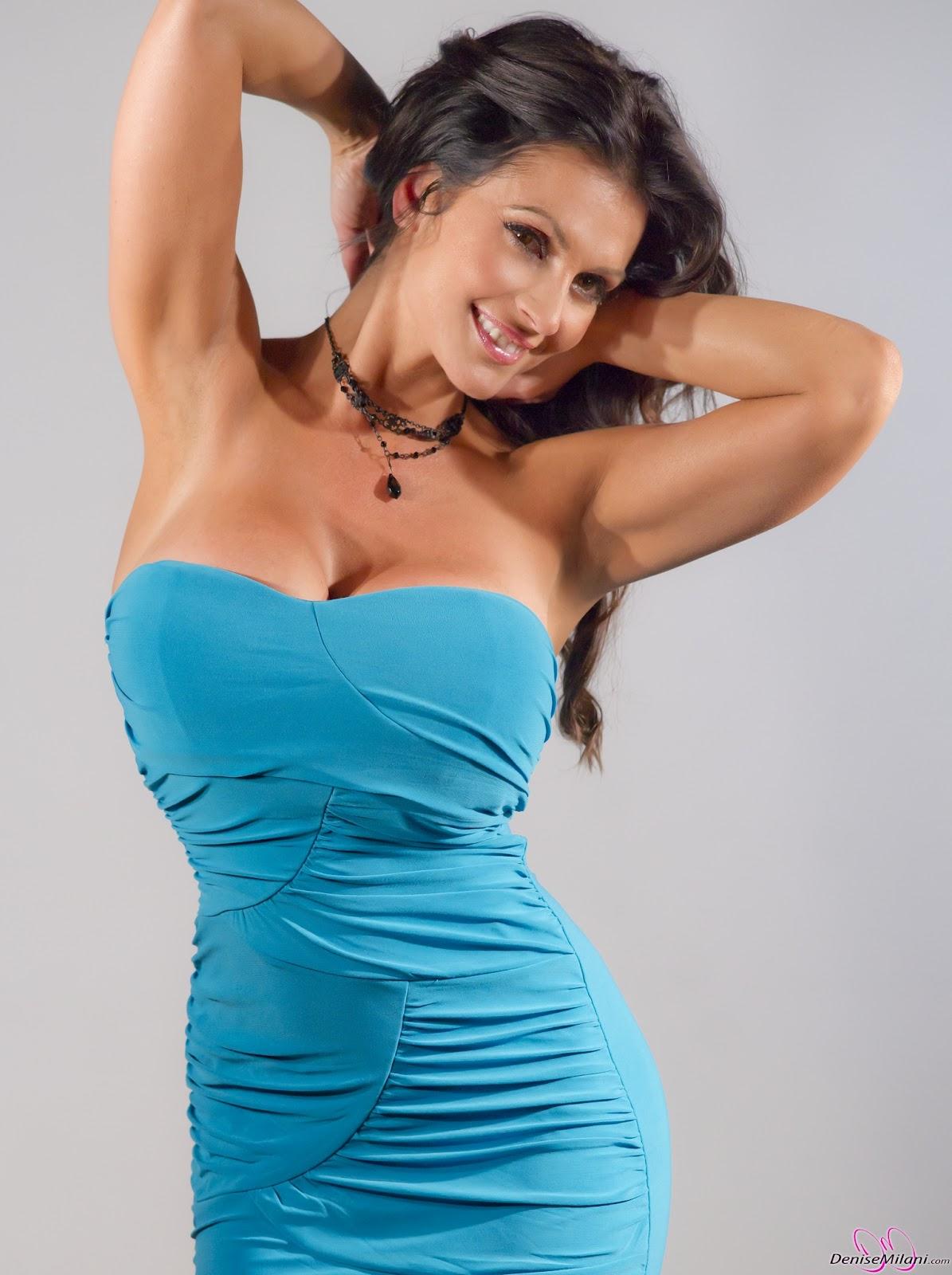 denise milani blue dress - photo #7