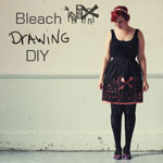 Bleach Drawing Fabric DIY