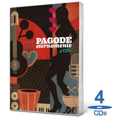 Coletânea Box Pagode Eternamente Som Livre   4 CDs 2012