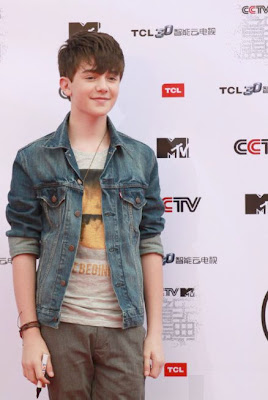 Greyson Chacne on the red carpet in Beijing China at the MTV Awards