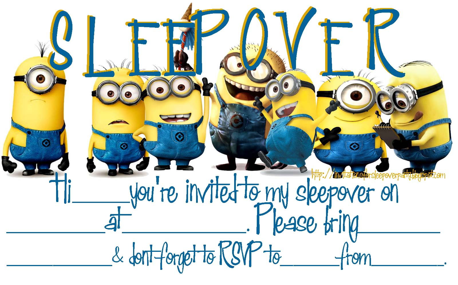 Invitations for sleepover party click on the images to see these free printable invitations stopboris Image collections
