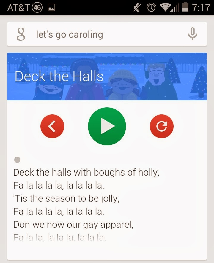 The Android Realm (retired): [Quick Tip] Let's Go Caroling