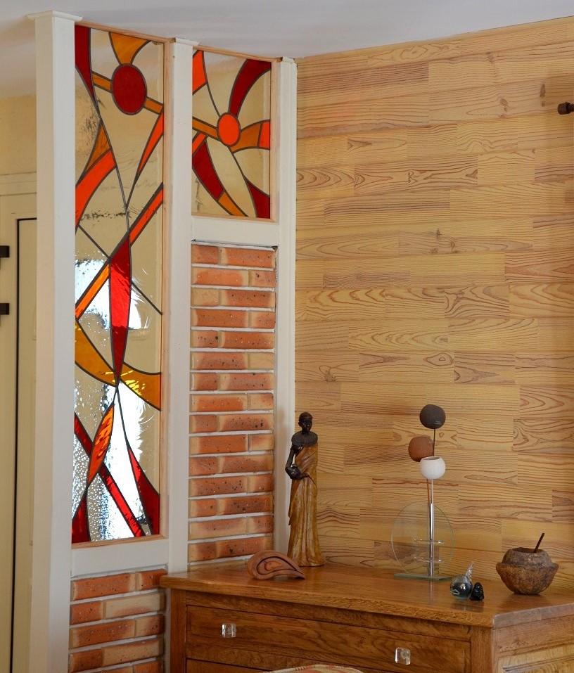 atelier verrier de clermont vitrail verre fusionn stages vitrail cloison de s paration. Black Bedroom Furniture Sets. Home Design Ideas