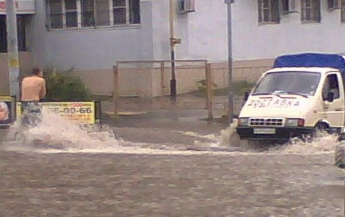 Сильное наводнение в Ростове-на-Дону