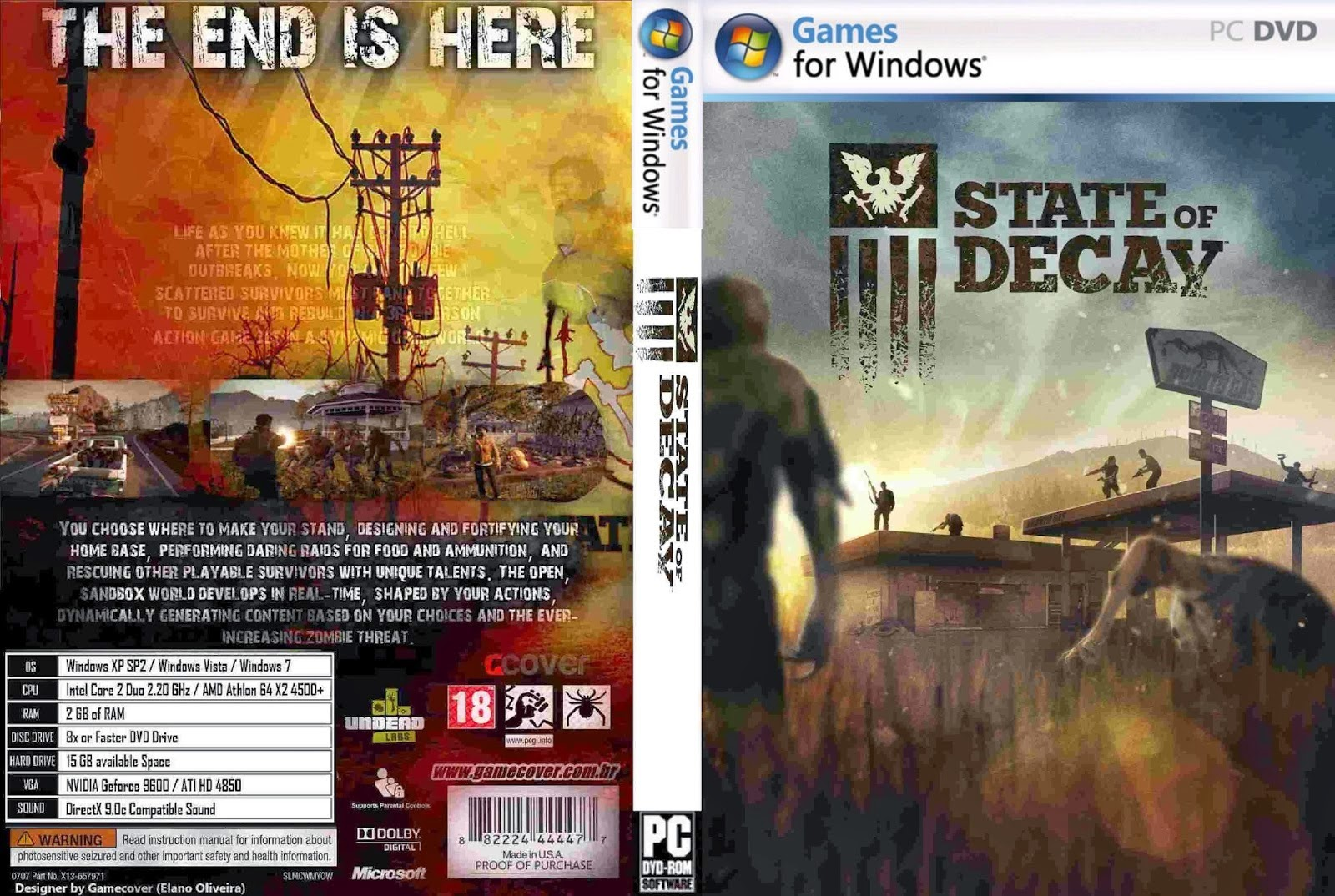 State Of Decay PC DVD Capa
