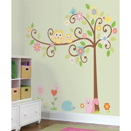 Рисунок на стене в детской комнате своими руками