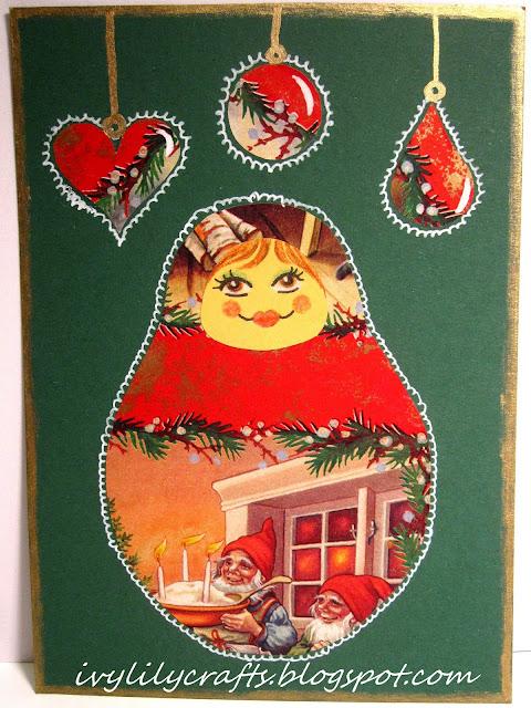 handmade christmas card itsetehty joulukortti
