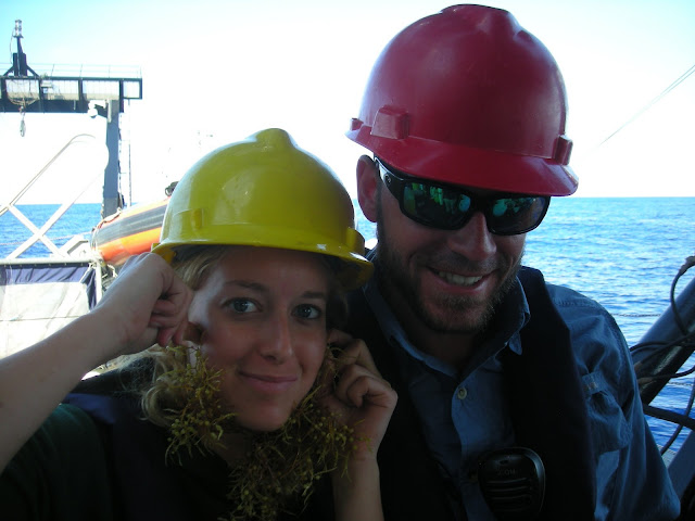 Jake and Kat With Sargassum Beards
