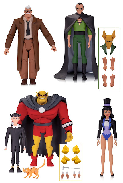 "Batman: The Animated Series Wave 6 6"" Action Figures - Commissioner Gordon, Ra's Al Ghul, Etrigan the Demon with Klarion the Witch Boy, & Zatanna"