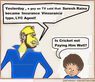 suresh, raina, odi, century, england, lic, agent, lyc, leap year, cricketer, cartoon, cartoons