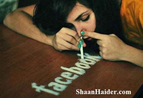 Facebook Addiction Girl