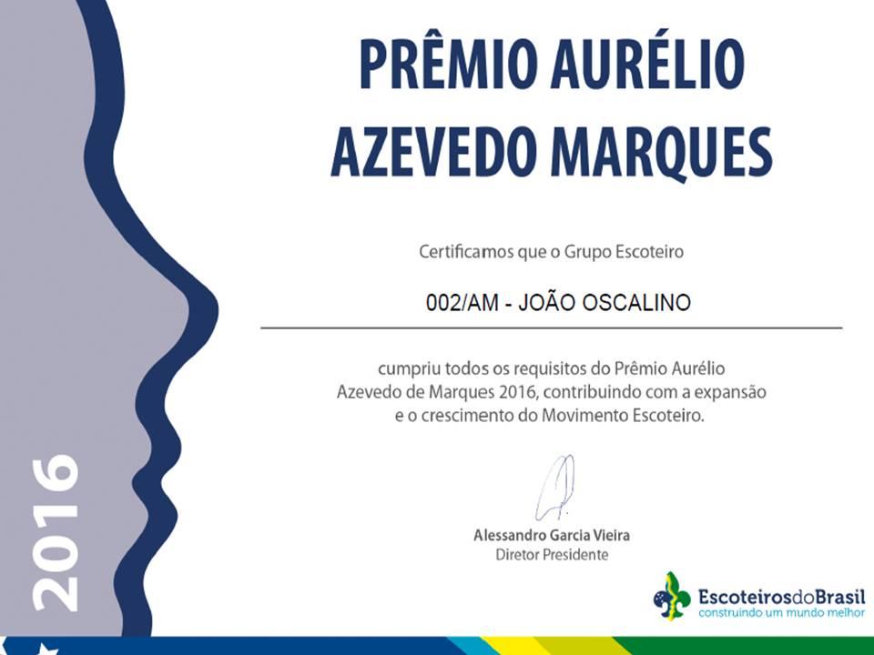 PRÊMIO AURÉLIO AZEVEDO MARQUES