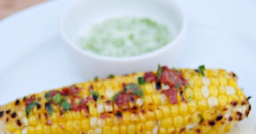 ... : Grilled Corn with Chipotle Butter and Lime Salt