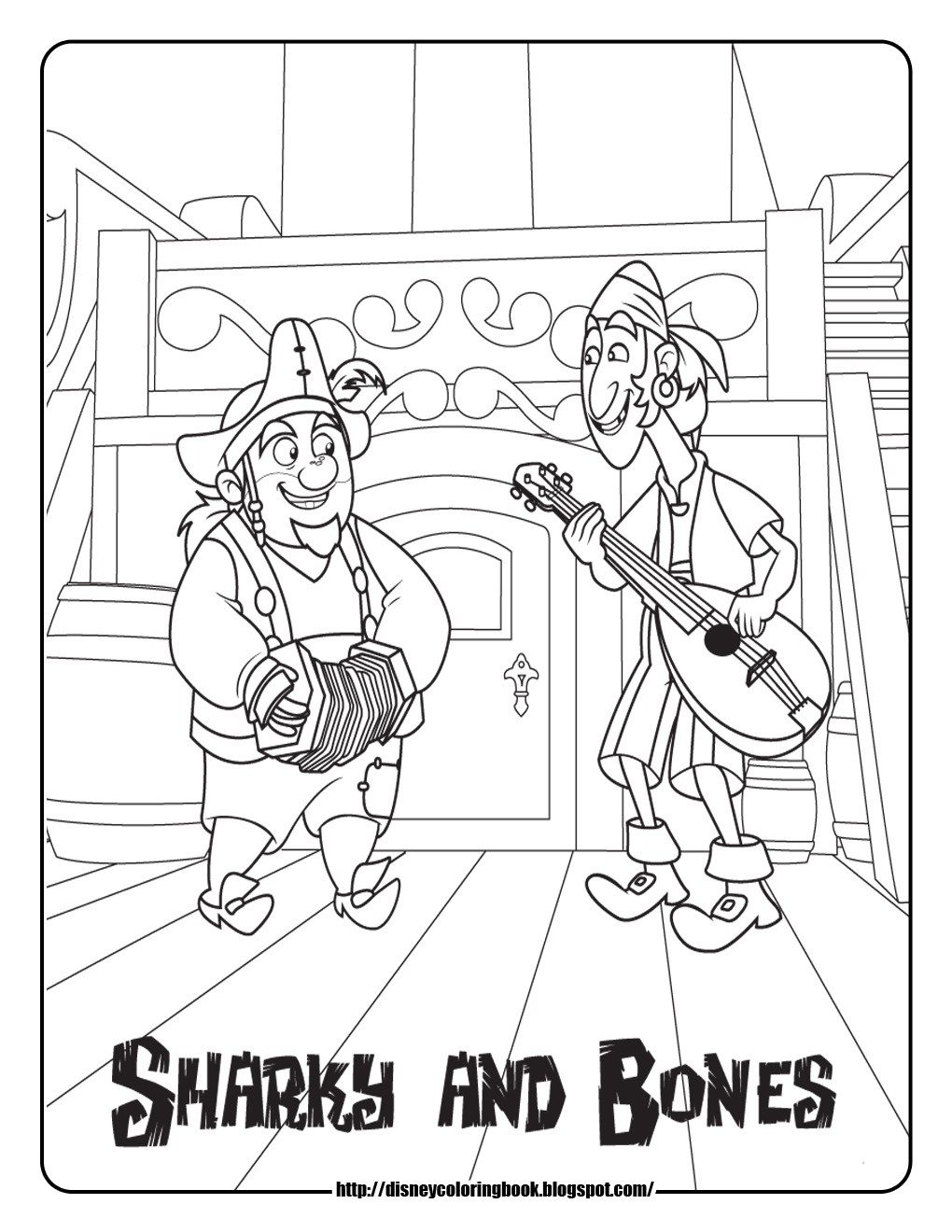 Jake and the neverland pirates coloring pages online for Jake and the pirates coloring pages
