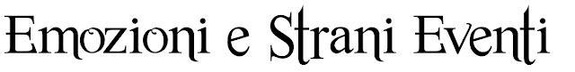 emozioni e strani eventi event and event planner font per logo 4