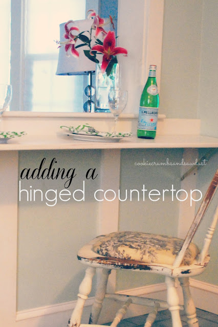 Hinged Counter Tops : Cookie crumbs sawdust hinged countertop