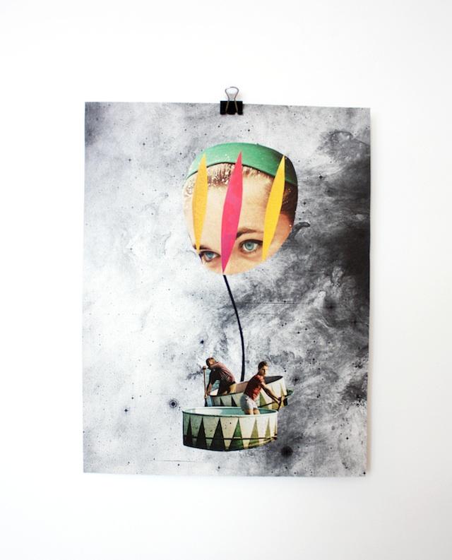 venus sees a hidden world - collage by laura redburn