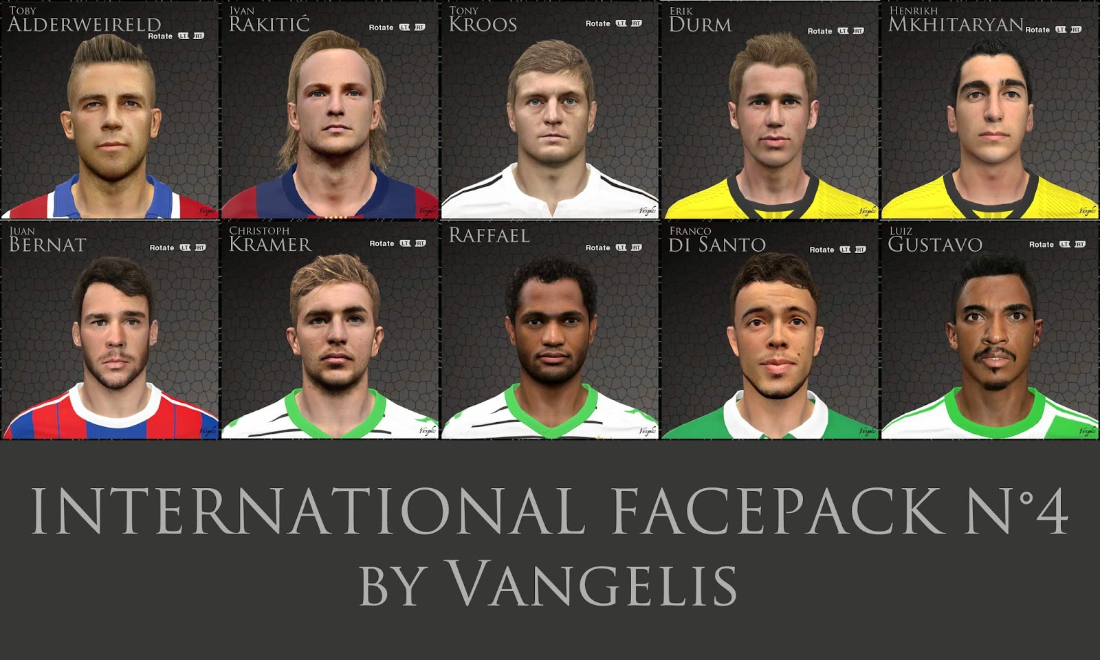 PES 2014 INTERNATIONAL FACEPACK N°4 by Vangelis