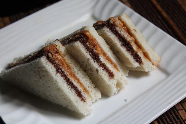 Peanut Butter and Nutella Finger Sandwich Recipe