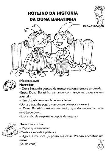 Famosos Bem Vindos!: DRAMATIZAÇÃO DA HISTÓRIA DA DONA BARATINHA VR67