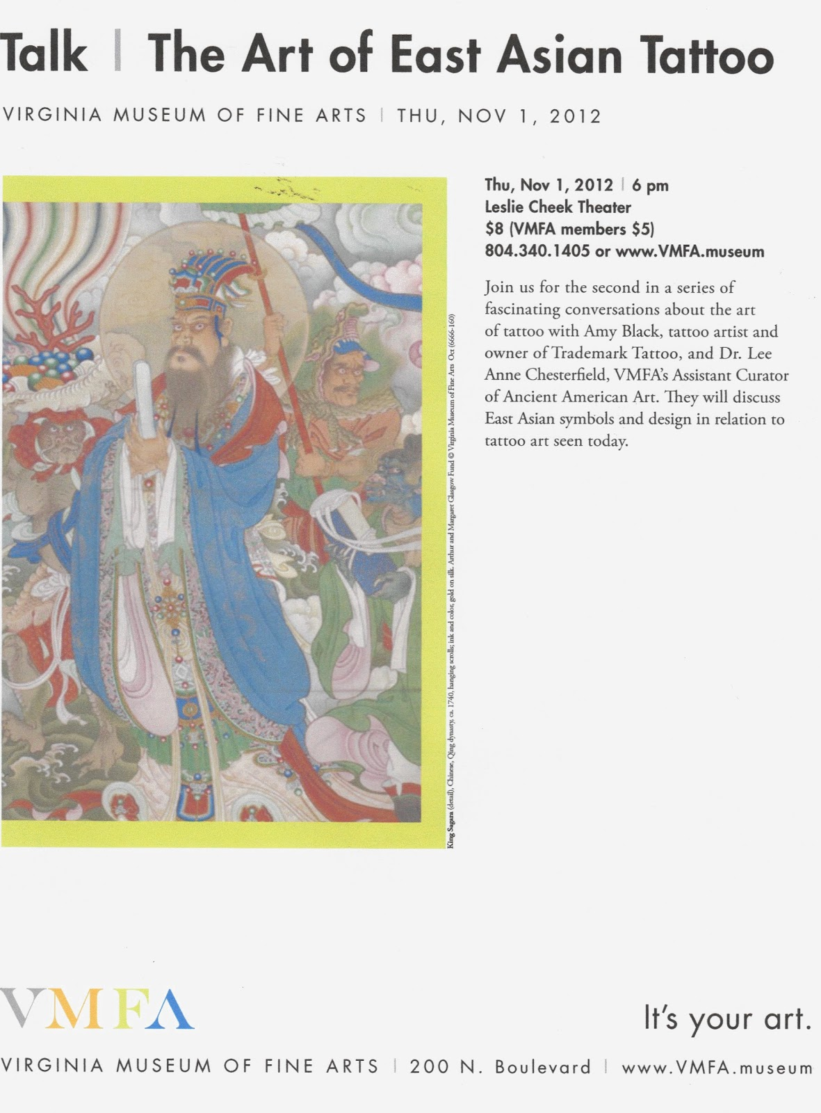 Other Blog Tattoos And East Asian Arts Talk At The Vmfa