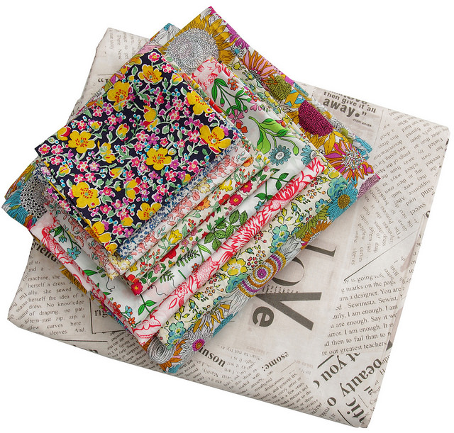 Liberty Tana Lawn and Collage - Newsprint by Carrie Bloomston